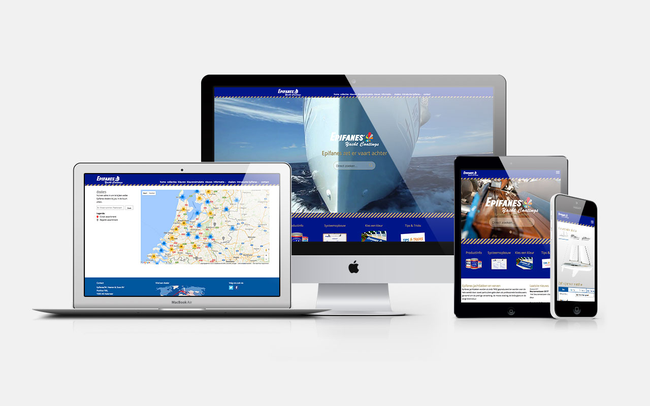 Epifanes Yacht Coatings BV - Website responsive design