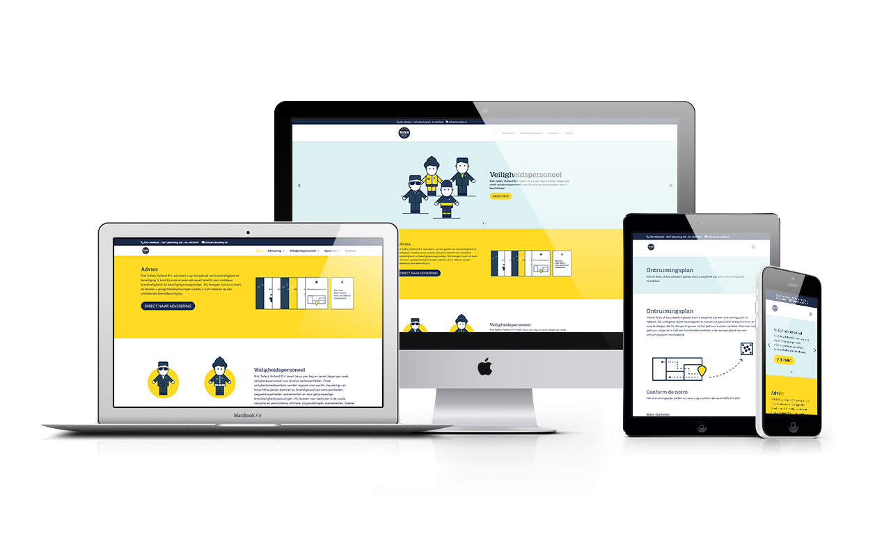 Risk Safety Holland B.V. - responsive Webdesign - WordPress